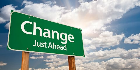 Change Just Ahead Schild